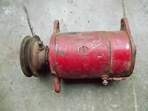 Farmall Ih M Mv Early Sm Tractor Good Working 6v Generator W Belt Pulley