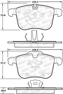 Stoptech 308 12570 Stoptech Street Brake Pads Fits 03 11 9 3 Bls Vectra