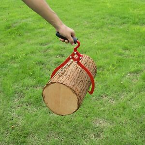 Timber Tongs With Handle 20 Inch Steel Log Lifting Carrying Outdoor Logging