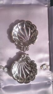 2 Sterling Silver Lunt Eloquence Nut Candy Dishes Shells