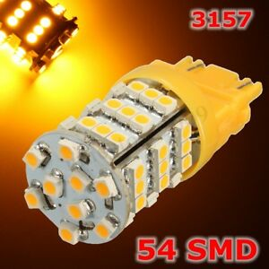 54 Smd Led Universal 3157 Amber Turn Signal Blinker Side Corner Light Lamp Bulb
