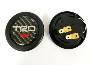 Trd Car Horn Button Steering Wheel Center Cap Carbon Fiber