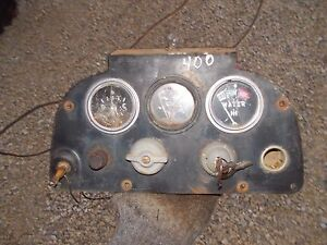 Farmall 400 Gas Tractor Original Ih Ihc Dash Panel Gauges Switch Original Key