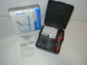 Hioki 3030 10 Hitester Analog Multimeter 600v Ac Tester W case
