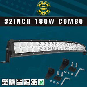 32inch Curved Led Light Bar Combo For Offroad Jeep Rhino Sandrail Boat Car Suv