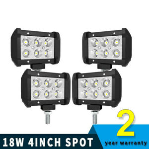 2x 7 Inch Led Pods Light Bar Flood Truck Offroad 4wd Suv Driving Fog Boat Light