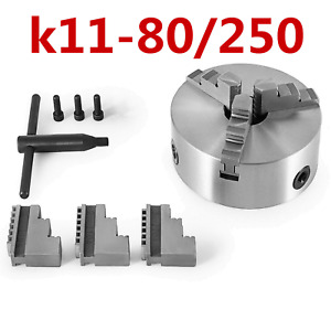 Lathe Chuck K11 80 250 3 Jaw Self Centering Hard Jaw Hardened Metal
