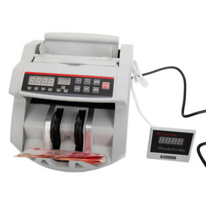 Bill Counter Money Counting Cash Machine Counterfeit Detector Uv W Lcd