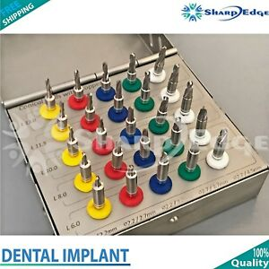 25 Pcs Dental Implant Conical Drill Kit With Stoppers Surgical Oral Surgery