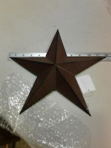 Two 12 Rusty Barn Star 5 Point New Primitive Metal Country Rust Stars