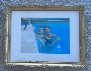 Antique French Gold Gilt Wooden Picture Frame Watercolor Miniature Photo