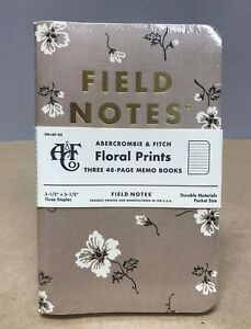 Field Notes X Abercrombie Fitch Floral Edition Sealed 3 pack Memo Notebooks