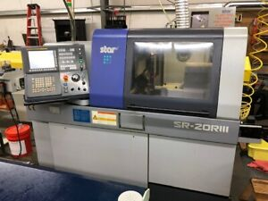 Used Star Sr 20riii Cnc Swiss Lathe 2010 0 78 Bar Live Tooling Sub Spindle Apc