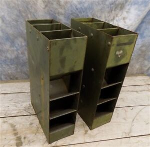 2 Pharmacy Prescription Dispensers Country Store Display Cabinet Cubby Vintage B