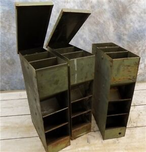 3 Pharmacy Prescription Dispensers Country Store Display Cabinet Cubby Vintage C