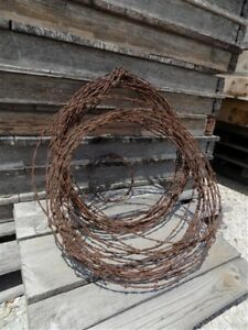 Lot Antique Barbed Wire Primitive Rustic Ranch Farm Country Decor Farmhouse