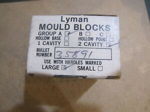 Lyman 358091 NOS Double Cavity Wadcutter Bullet Mold Lead Bullet Casting Mould