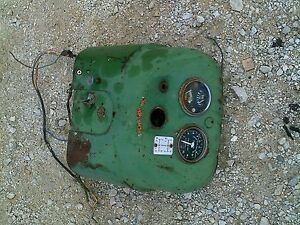 Oliver 550 Tractor Original Dash Cover Panel With Tachometer Key Switch Gauges