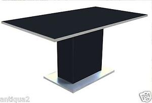 Stylish 80s Italian Baughman Cardin Kagan Era Polishd Black Steel Dining Table