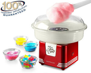 Electric Cotton Candy Maker Sugar free Kit Home Store Red Portable Retro Machine