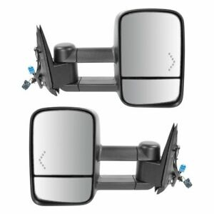 Towing Mirrors Power Heated Signal Set For 03 06 Chevy Silverado 1500 2500 3500