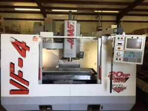 Used Haas Vf 4 Cnc Vertical Mill 1999 50 20 25 20 Tools 7500 Rpm Gearbox Hsm