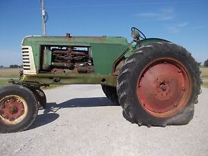 Oliver 88 Tractor Good Metal Easy Rider Seat Factory Wide Front Belt Pulley Carb