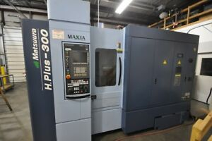 Used Matsuura H plus 300 Cnc Horizontal Mill 2016 Tsc 4th Axis Probe Cat 40