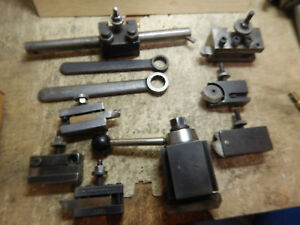 Older Armstrong Quick Change Tool Post Turret W Holders For Metal Lathe