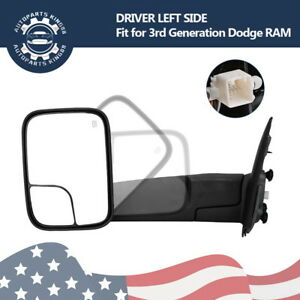 Driver Left For 02 08 Dodge Ram 1500 03 09 2500 3500 Tow Mirror Power Heated