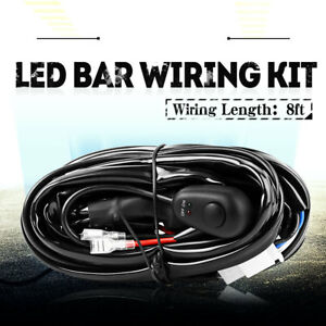 Led Light Bar Wiring Harness Kit Fuse Relay On Off Switch Universal Up To 300 W