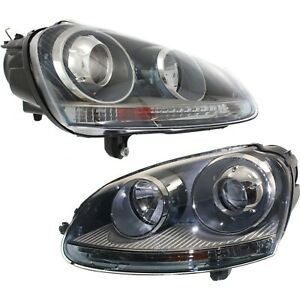 Hid Headlight Set For 2005 2010 Volkswagen Jetta Left Right Pair
