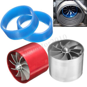Car Supercharger Turbine Turbo Charger Air Filter Intake Fan Fuel Gas Saver