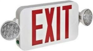 Morris Products Red Led Light Emergency Exit Sign 120 Volt 3 Watt Remote