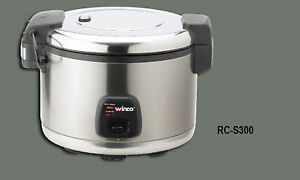 1 Commercial Winco Advanced Electric Rice Cooker Warmer 60 Cups Rc s300