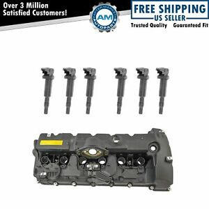 Engine Valve Cover Gasket Ignition Coil Packs Kit Set For Bmw 3 0l L6 New