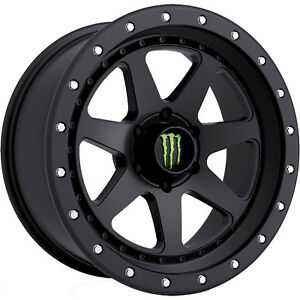 17x8 5 Black Monster Energy 540b Wheels 6x135 0 Lifted Fits Ford Expedition