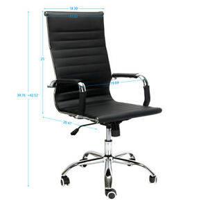 Modern Pu Leather Ergonomic High Back Executive Office Chair Sport