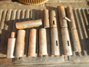 Pile Of Warner Swasey Turret Metal Lathe Tool Holder Taper Sleeves