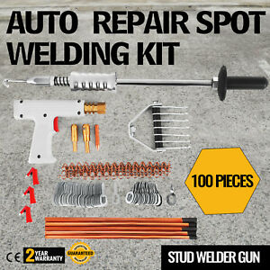 Repair Panels Spot Welding Kit Stud Welder Gun 400a Aluminum Dent Removal
