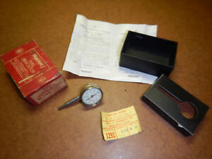 Vintage Starrett Dial Test Indicator No 196b With Box Machinist Tool