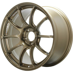 18x10 5 Bronze Advan Racing Rzii Wheels 5x4 5 15 Fits Ford Mustang