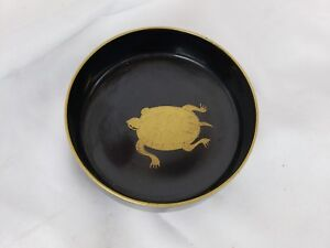 Excellent Vintage Japanese Black Lacquerware Bowl Ca 1950