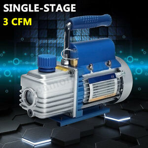 1l 3cfm 150w 2pa Rotary Mini Vane Vacuum Pump For Hvac Ac R134a Air Conditioning