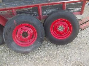 Ferguson To30 To 30 Tractor Mf Press Steel Rims 7 50 X16 Tires Ih 460 560 706