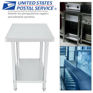Stainless Steel Kitchen Work Table Commercial Restaurant Food Prep 24 X 36