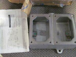 New Eaton Crouse Hinds Eds372 Explosion Proof 2 Double Gang Device Box 1