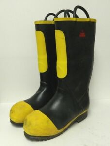 Black Diamond Structural Firefighter Safety Boots Size 11 Wide Men s