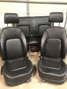 2010 Vw Beetle Type 1 Set Of Front Rear Leather Manual Seats Trim Code Ln