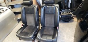 2008 Cadillac Sts V Leather And Suede Seats Ebony Black Front And Rear Set